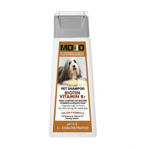 MD10 High content BIOTIN - Vitamin B7-  Horse Shampoo  - 300ml (1.2 litre when diluted) Bearded Collie